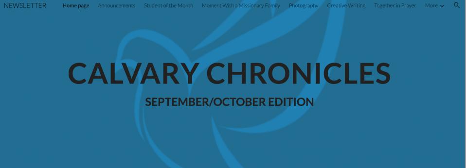 Calvary Chronicles Newsletter – September/October 2020